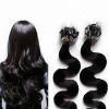 0.7g BW jet black 1# Micro Ring Easy Loop Pre bonded Human Hair Extension