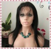 #1 jet black yaki straight Indian remy hair lace front wig