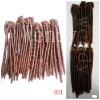 100% Chinese human hair weaving.