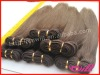 100% Human Indian Hair Machine Made Hair Wefts