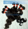 100% India human natural hair weave with factory price