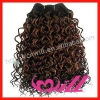100% Virgin Human Remy Hair Curly Hair Wefts Extensions