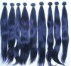 100% Virgin remy blue color machine weft