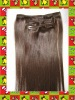 100% clip in virgin remy Chinese human hair extension