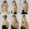 100% human clip in hair extension