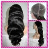100% human hair 24in,1B#,Bodywave with full lace wig