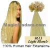 100%human hair U-tip hair extension/ nail hair