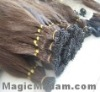 100% human hair extension I-tip hair extension keratin per-bonded/ nail hair