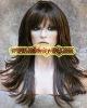 100% human hair remy mono wigs/light brown mix