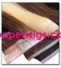 100%human hair skin weft