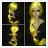 100% long golden synthetic wigs for women