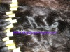 100%natural single drawn indian wavy hair extension