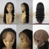 100% premium indian remy human hair glueless full lace wig