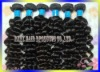100% remy Brazilian virgin human hair weft extensions weft hair deep wave natural black 100g/pcs any length