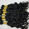 100% unprocessed virgin bulk hair with cuticle on the same direction