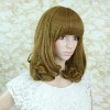 12 inches super wave hand-tied wig