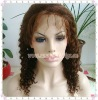 "14"" #4 Kinky Curl 100% Indian Remy Hair Full Lace Wigs"