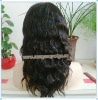 "14"" natural wave 100% Brazilian virgin hair full lace wigs"
