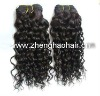 "16""-18"" 100% curly remy human hair extension"