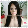 "16"" #1b Yaki Straight With Bang 100% Indian Remy Hair Full Lace Wigs"