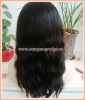 "16"" Natural Straight Brazilian Virgin Hair Full Lace Wigs"