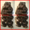 "16"" Natural wave-Super quality 100%Brazilian virgin hair machine made weft"