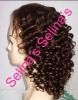 "16"" virgin hair Spiral curl full lace wig, best quality"