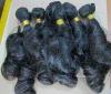 "16"" virgin mongolian hair weft curly"