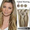 18 Inches 7pcs Clip-in Human Hair Extensions Straight (#P8/613)  SH1429