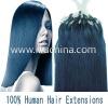 """18"""" Remy Hair Micro Loop Hair #blue 0.5g/s"""
