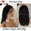 1B color deep weave in stock 150% density full lace wig
