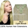 "20"" 8 pcs HUMAN HAIR CLIPS ON IN EXTENSIONS #613,100g"