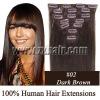 "20""Remy Clip 7pcs Human Hair Extension #02, 70g/set"