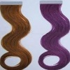 2011 charming skin weft human hair extension with comparative price