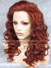 2011 top quality red deep wave new style synthetic lace front wig