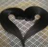 2012 hot sale indian machine weft black hair extension