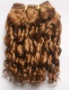 2012 hot-sale spiral curly light brown virgin remy machine weft human hair