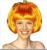 2012 new style fashion halloween yellow pumpkin wigs
