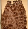 2012 selling best brown color peruvian hair weft