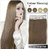 20inches Wavy #8_Ash Brown Remy Human Hair Tape Hair Extensions