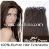 """22"""" Loop/Micro Ring Hair Extensions 100S #04, 0.5g/s"""
