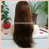 "22"" natural straight 100% Mongolian Virgin Human Hair Silk Top Full Lace Wigs"