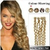 24inch Curl Micro Loop /Ring Hair Human Hair Extension #24 Ash Blonde