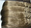 26 inch grey straight wave machine sew extension hair