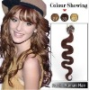 26inch Indian Remy Hair Wave Micro Loop /Ring Hair Extension #33_Dark Auburn