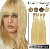 #613_Bleach Blonde Pre-bonded Stick Tip 24inches Human Hair Extensions