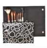 7PCS Makeup Brush Set With Leather Cosmetic Bag