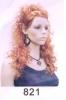 821 tied curl wig