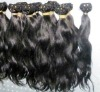 AAA quality unprocessed machine made brazilian hair weave blonde and brown