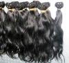 AAA quality unprocessed machine made wavy brazilian hair